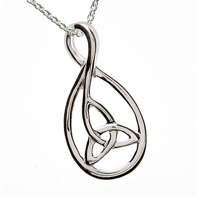 Sterling Silver Trinity Knot Necklace