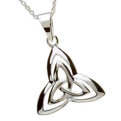 Sterling Silver Double Trinity Knot Necklace