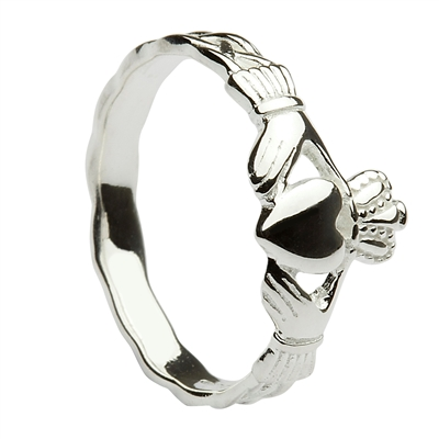 Sterling Silver (Small) Maids Claddagh Ring 8.7mm